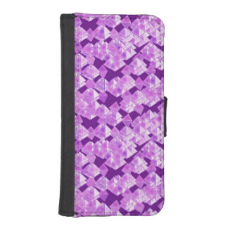 Pyramid crystals, lavender and purple iPhone 5 wallet