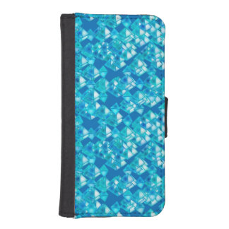 Pyramid crystals, turquoise and blue phone wallets