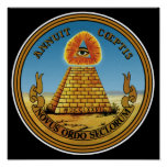 Pyramid & Eye - All Seeing Eye - Great Seal Posters