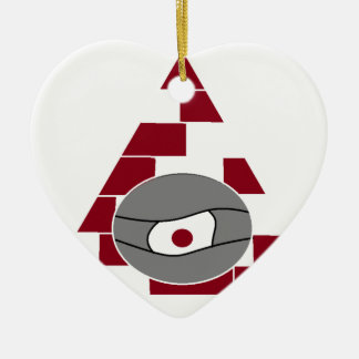 Pyramid Eye Ceramic Heart Decoration
