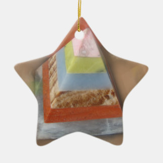 Pyramid in Clouds Ceramic Star Decoration