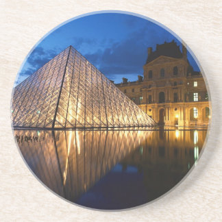 Pyramid in Louvre Museum,Paris,France Drink Coasters