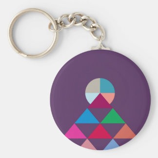 Pyramid Key Ring