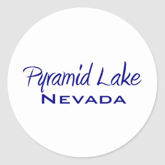 Pyramid Lake Classic Round Sticker