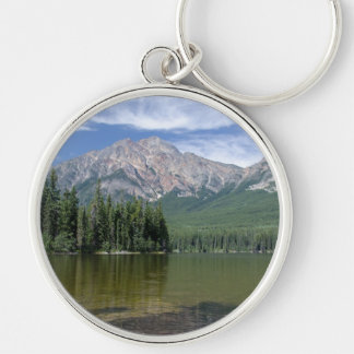 Pyramid Mountain and Lake Alberta Canada Key Ring