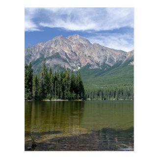 Pyramid Mountain and Lake Alberta Canada Postcard
