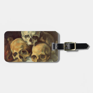 Pyramid of Skulls Vintage Halloween Luggage Tag