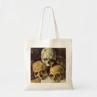 Pyramid of Skulls Vintage Halloween Canvas Bags