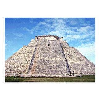 Pyramid Of The Magician Puuc Style 500 AD Uxmal Invite