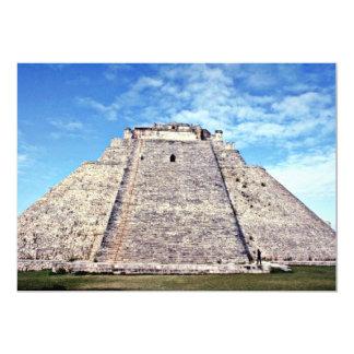 "Pyramid Of The Magician, Puuc Style 500 AD, Uxmal 5"" X 7"" Invitation Card"