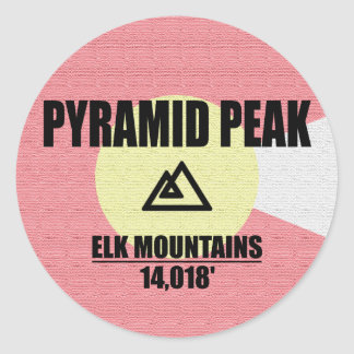 Pyramid Peak Classic Round Sticker