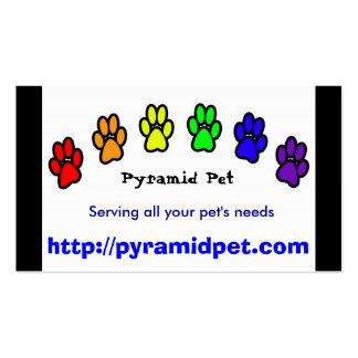 Pyramid Pet Business Card Templates