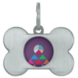 Pyramid Pet Tag