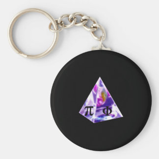Pyramid symbol Pi and the Golden Ration Basic Round Button Key Ring