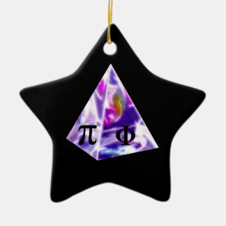 Pyramid symbol Pi and the Golden Ration Ceramic Star Decoration