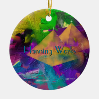 Pyramid Times Personalized with your text Round Ceramic Decoration