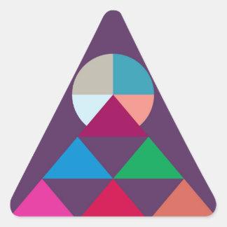 Pyramid Triangle Sticker