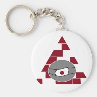 Pyramid Watch Basic Round Button Key Ring