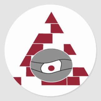 Pyramid Watch Round Sticker