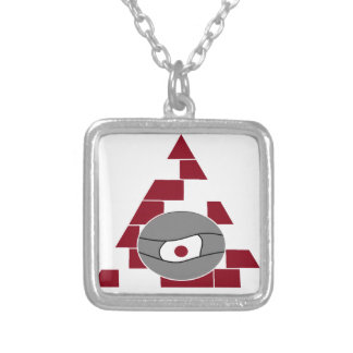 Pyramid Watch Silver Plated Necklace
