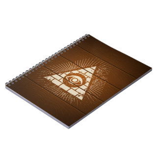 Pyramid with eye notebooks