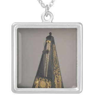 Pyramidal metronome, 1815 silver plated necklace