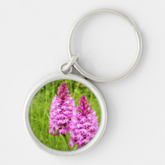 Pyramidal Orchid Key Ring