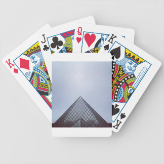 Pyramide Louvre Paris Bicycle Playing Cards