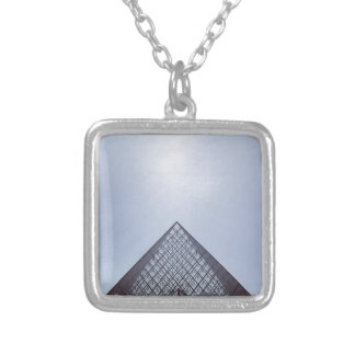 Pyramide Louvre Paris Silver Plated Necklace