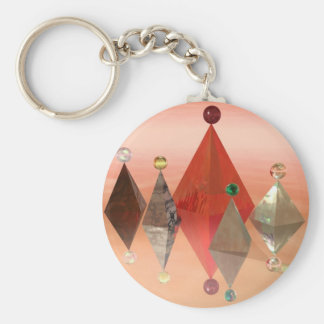Pyramids1 Basic Round Button Key Ring
