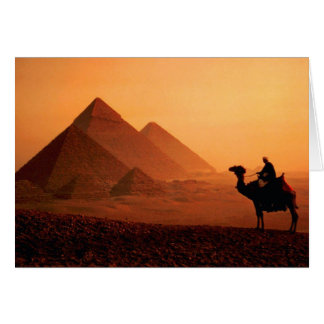 Pyramids and Camel Greeting Card