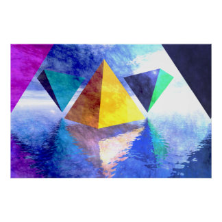 Pyramids and Triangles poster