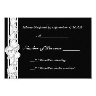 Pyre (Grey) RSVP Card Invites