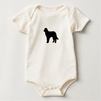 Pyrenean Shepherd Silhouette Baby Bodysuit