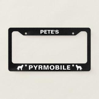 Pyrenean Shepherds PYRSHEPMOBILE Custom Licence Plate Frame