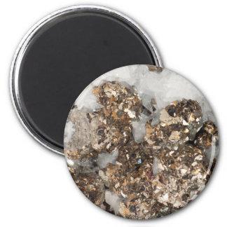 Pyrite and Quartz Magnet