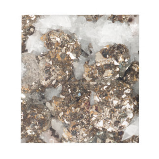 Pyrite and Quartz Notepad
