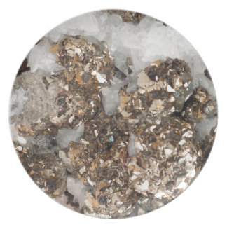 Pyrite and Quartz Party Plate