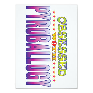 Pyroballogy 2 Obsessed 14 Cm X 19 Cm Invitation Card