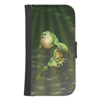 PYROS FISH ALIENS Samsung Galaxy S4 Wallet Case