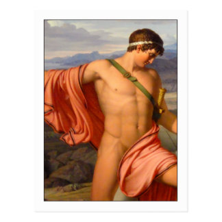 Pyrrhus and Andromache by Johan Lund Postcard