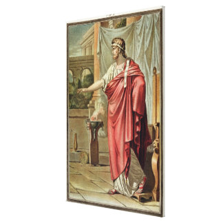 Pyrrhus, costume for 'Andromache' by Jean Racine, Gallery Wrapped Canvas