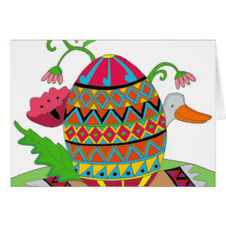 Pysanka and Duck Ukrainian Folk Art Greeting Cards