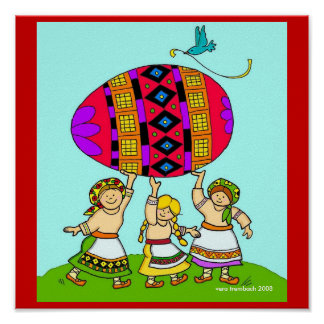 Pysanka Girls Vera Trembach Teacher Resource Poster