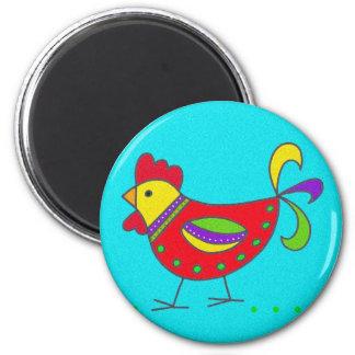 Pysanka Symbol: Hen 6 Cm Round Magnet