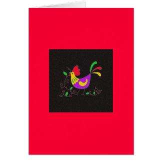 Pysanka Symbol: Rooster Card