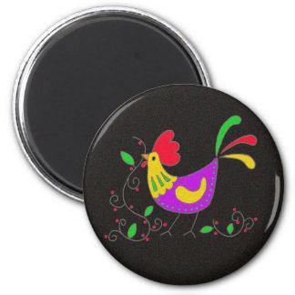 Pysanka Symbol: Rooster Magnet