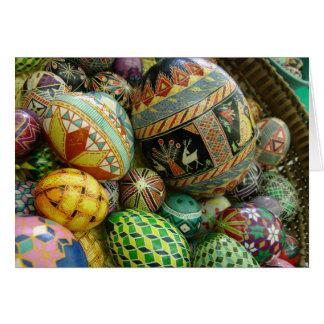 Pysanky Easter Eggs Card
