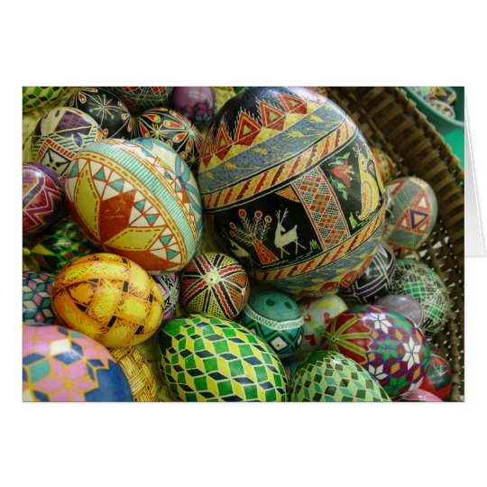 Pysanky Easter Eggs Card