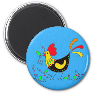 Pysanky Symbols Series: Rooster Magnet